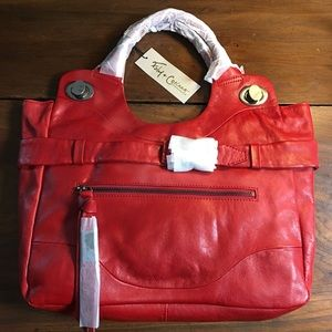 Foley + Corinna Jet Set Tote NWT $498 Red leather